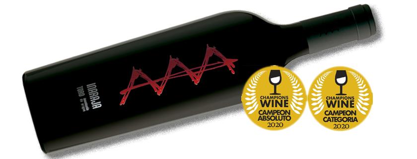 Inaraja 2014 ganador absoluto de Champions Wine 2020